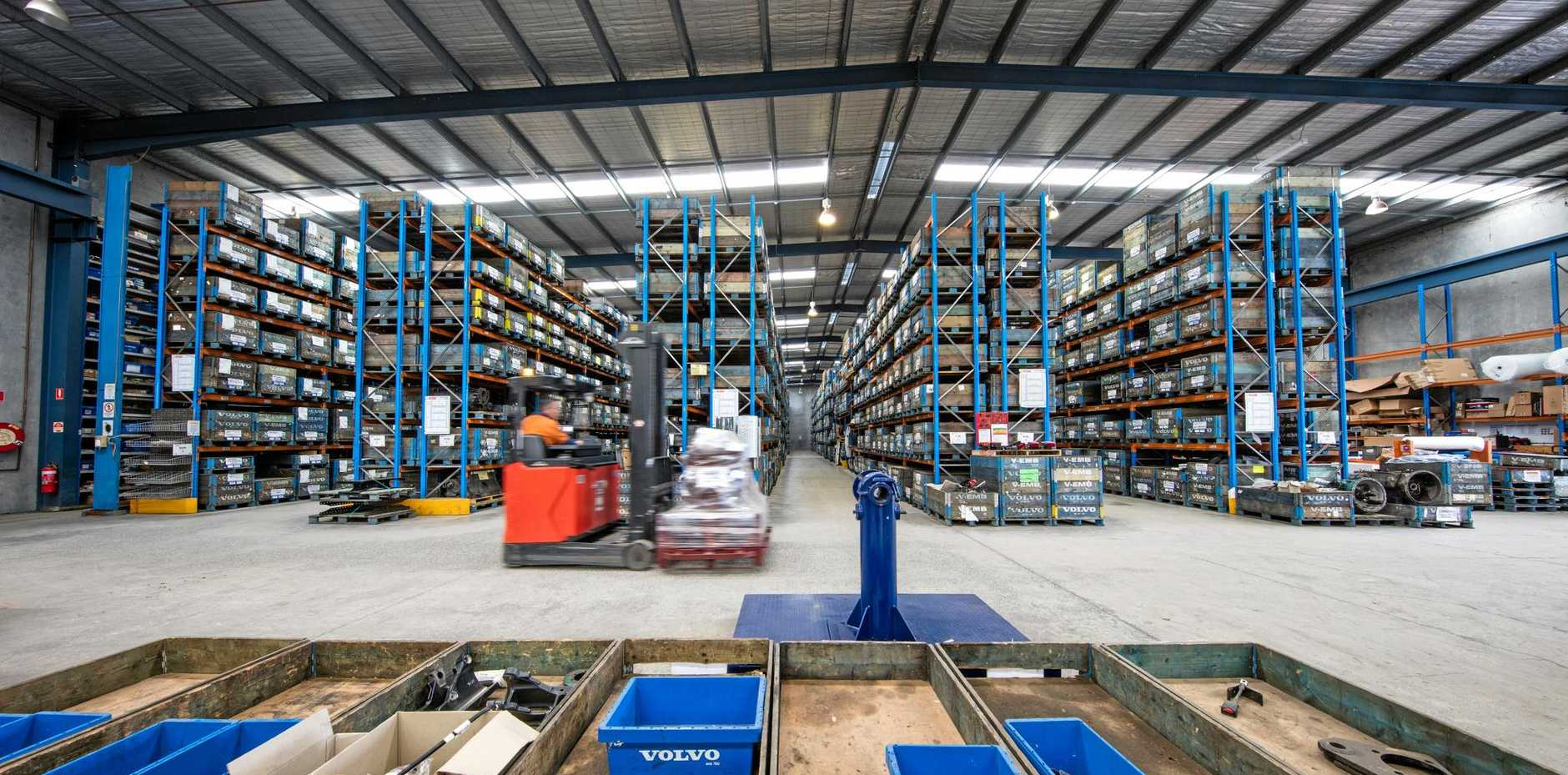 HUGE RANGE: A section of the expansive VMR warehouse.
