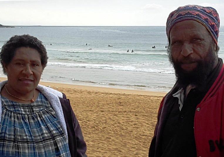 PNG highlander Julie ha never before seen the ocean before her visit to Noosa.