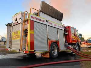 Fire destroys CQ house, patient taken to hospital