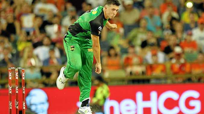 Melbourne Stars player Daniel Worrall bowls against the Perth Scorchers in the Big Bash League match at the WACA in January.