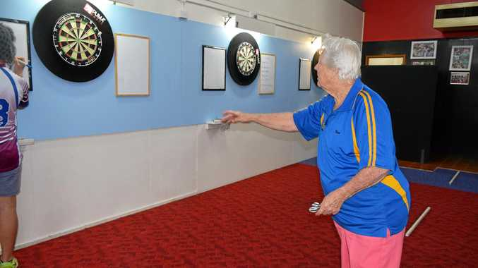 IN ACTION: Roma darts competition.