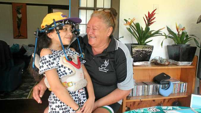 Fairlane Tui and grandmother Yvonne Tui are nearing the end of an 11-year medical journey.Photo Lucy Smith / Daily Mercury