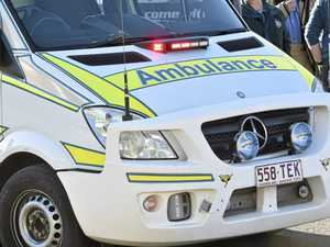 Paramedics rush injured motorcycle rider to hospital