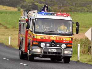Car engulfed in 'high flames' after CQ crash