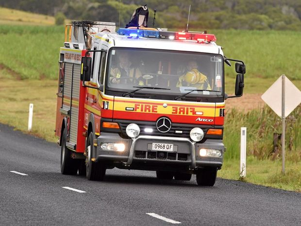 Emergency services were called to a property in Rural View after a neighbour reportedly saw a suspicious gas bottle leaking.