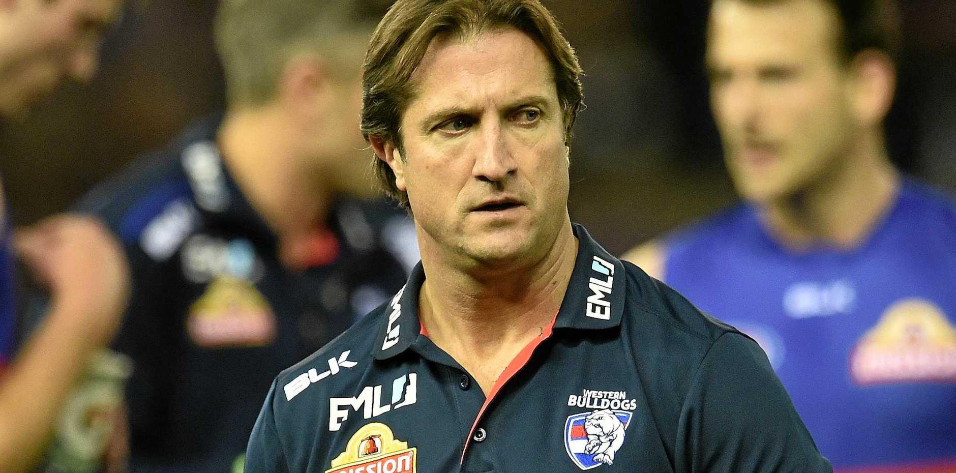 Bulldogs coach Luke Beveridge.
