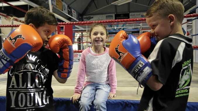 Toowoomba young guns Adrian Young (left) and Junior Richards will meet in a fund-raising boxing match for Charlotte Grice who is fighting brain cancer.