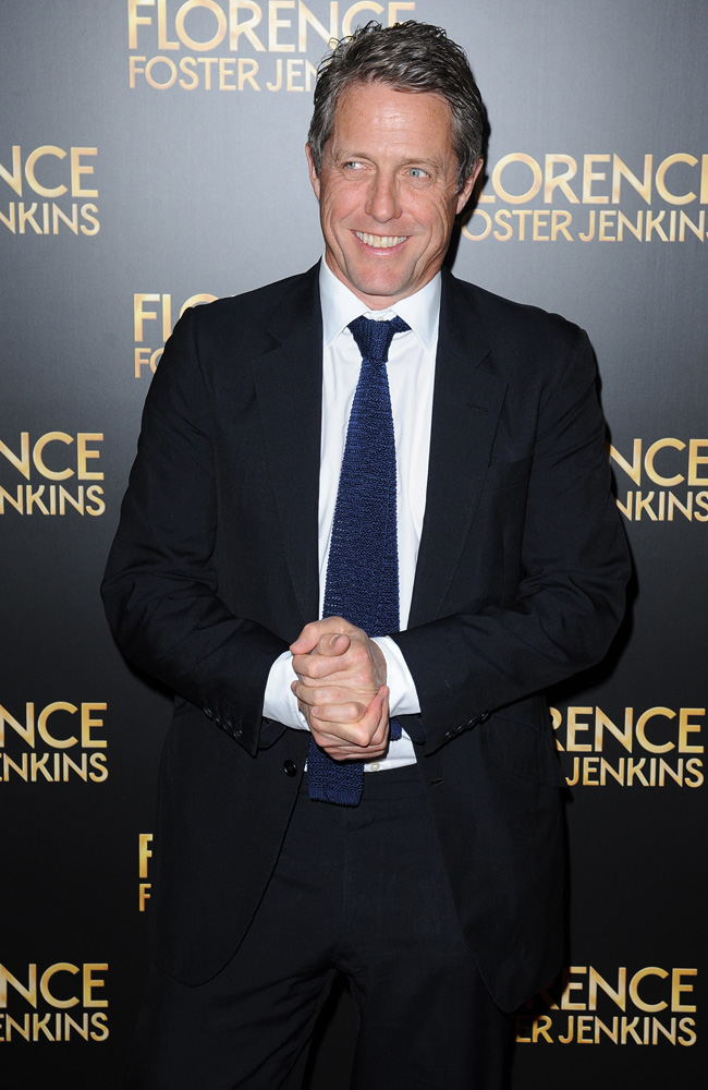 Hugh Grant says he loves filming sex scenes and finds them a