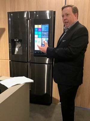 The launch of the Samsung Family Hub fridge