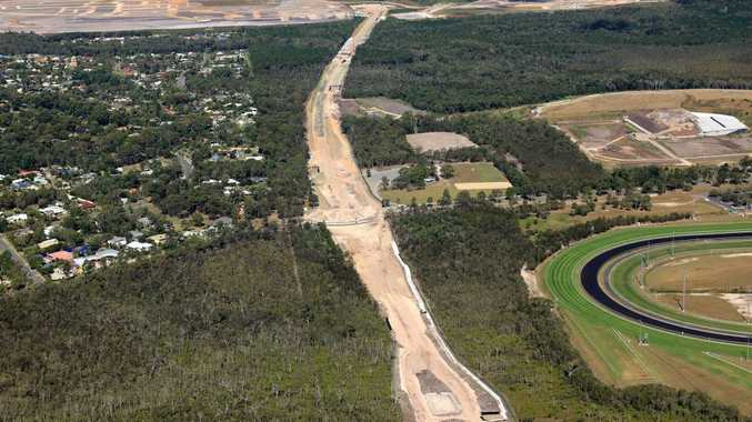 FROM ABOVE: Bells Creek Arterial Road.