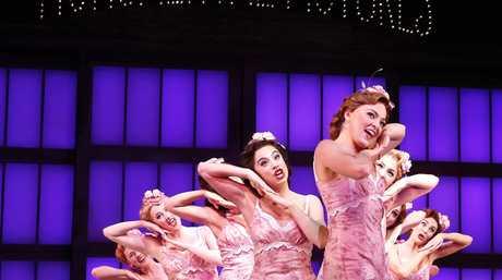Gretel Scarlett, front, in a scene from the musical Singin' in the Rain.