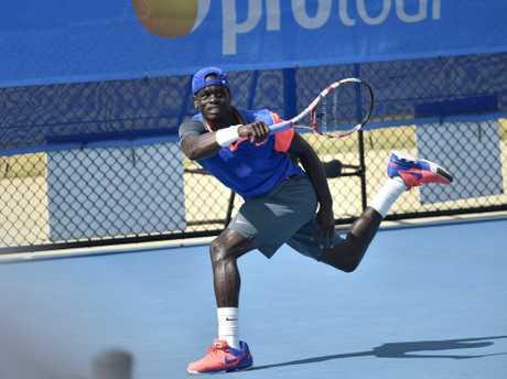 Hutchinson Builders Toowoomba International tennis, men's final winner, Jarmere Jenkins.Photo: Bev Lacey / The Chronicle