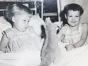 Lynne and Gayle Kelly, Royal Brisbane Hospital 1957