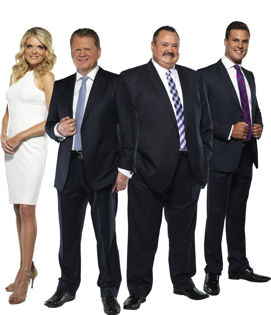 The Footy Show's Erin Molan, Paul Vautin, Darryl Brohman and Beau Ryan.