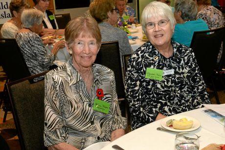FRIENDSHIP DAY: Morna Harper and Elizabeth Nunn at the War Widows Friendship Day held at the Bundaberg RSL.