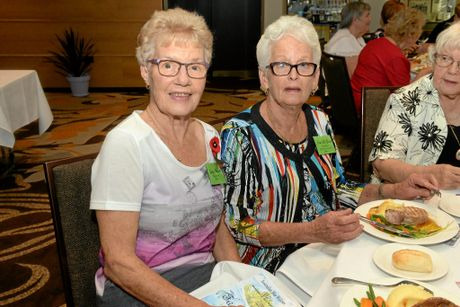 FRIENDSHIP DAY: Judy Mitchell and Jean Le Giarde at the War Widows Friendship Day held at the Bundaberg RSL.