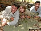Chandler Powell, Bindi Irwin and team member Luke with Madison the Crocodile.