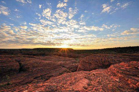 Kings Canyon with sunrise, Australia.