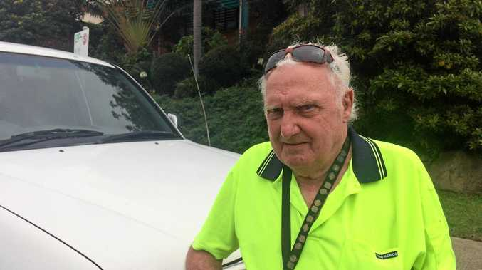GREY nomad Robert Salter, 83, leaves Gladstone Courthouse after his driver licence issue.