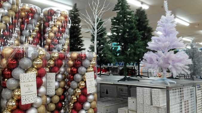 IT'S THAT TIME OF YEAR: Christmas decorations are already up in stores across Bundaberg.