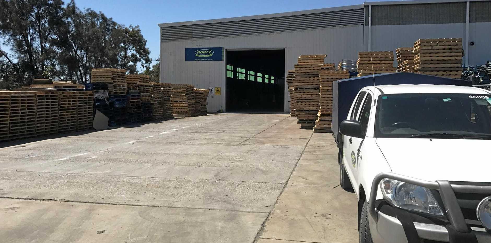 Workers at Kurtz Transport Gladstone depot are still doing their job.