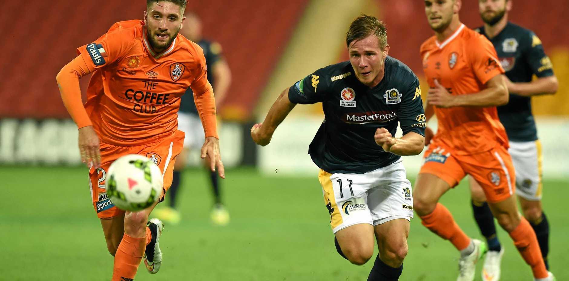 READY TO ROAR: Brisbane player Brandon Borello.