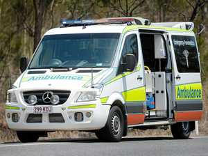 Paramedics tend to elderly woman hit by vehicle