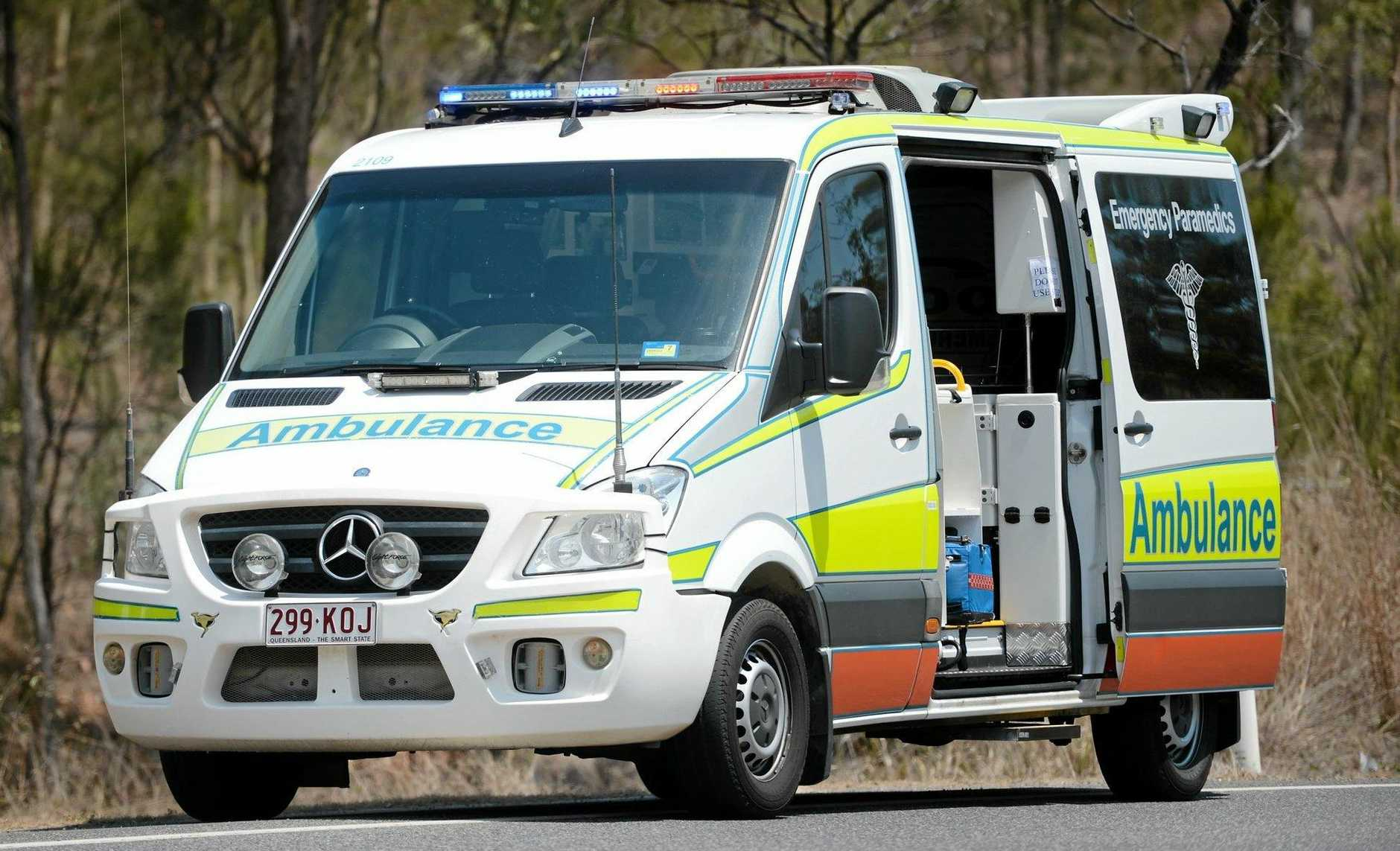 Queensland Ambulance Service on scene of an accident.