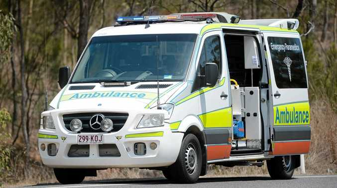 Two females were transported to Kingaroy hospital following incident with a truck.