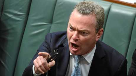 Minister for Defence Industry and Leader of the House Christopher Pyne in the House of Representatives at Parliament House in Canberra, Wednesday, Aug. 31, 2016. The Labor opposition has held up the introduction of a swag of government bills to parliament by demanding a royal commission into Australia's banking system, accusing the coalition of running a \