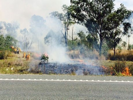Three fire crews at Benarby grass fire.