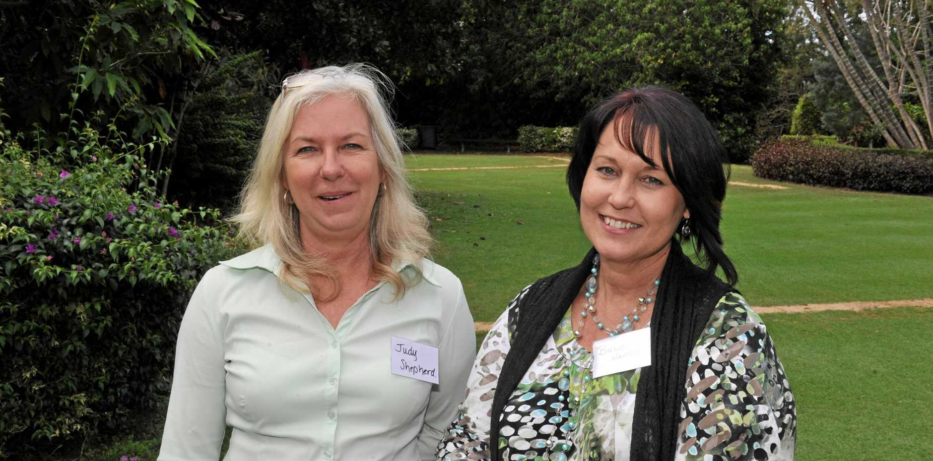 RURAL WOMEN: Judy Shepherd (left), with Billie Harris at the Women in horticulture forum, is worried about the proposed tax.