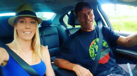 CRUISING: Charlee and biological father Chuck Harkins sightseeing.