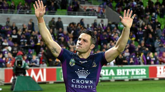 Cooper Cronk after playing his 300th game in the NRL preliminary final between the Melbourne Storm and the Canberra Raiders at AAMI Park. He's now off to another grand final.