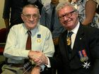 His Excellency the Honourable Paul de Jersey AC, Governor of Queensland with Bundaberg resident Eric Cullen who received the Medal of the Order of Australia (OAM).
