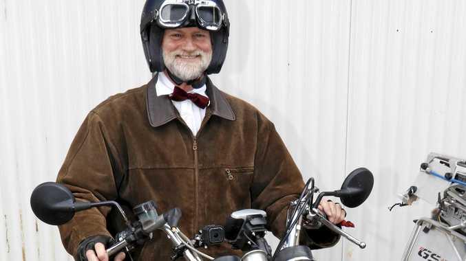 Mark Stidever, 1978 Triump Bonneville. Distinguished Gentlemens Ride September 2016.