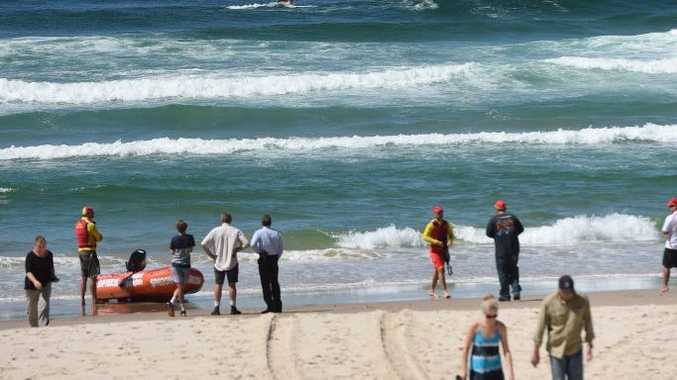 A shark attack at Lighthouse Beach in Ballina last Monday had rescue personel on alert on the first day of the Lifesaving season and the first week of the school holidays. Photo Marc Stapelberg / The Northern Star