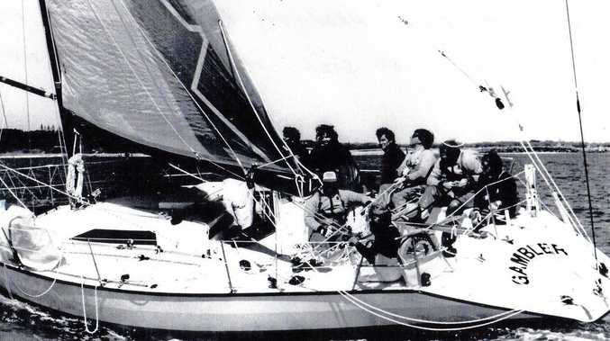 KNOW WHEN TO FOLD 'EM: The Gambler during the 1984 Sunshine Coast Ocean Regatta series.