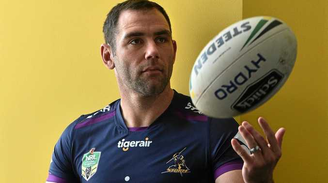 Cameron Smith during a Melbourne Storm media session at AAMI Park.