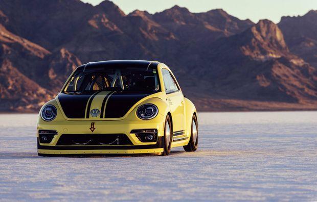 VW Beetle LSR managed 328kmh at Great Salt Lake in Bonneville, Utah (USA).Photo: Contributed