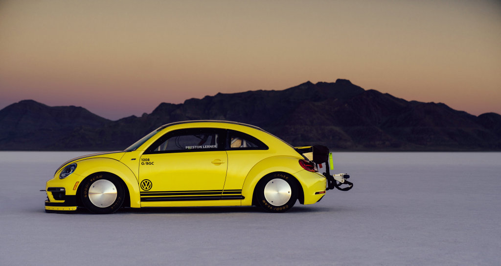 VW Beetle LSR managed 328kmh at Great Salt Lake in Bonneville, Utah (USA).Photo: Contributed