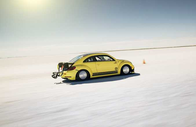 FLYING DUB: Production VW Beetle's 2.0-litre engine modified to 405kW to help break the 200mph barrier.