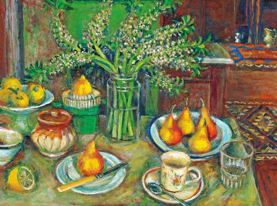 LIFE ART: Pineapple flowers and pears: Margaret Olley (1923 - 2011), a gift of the Tweed Regional Gallery Foundation Ltd and Friends.