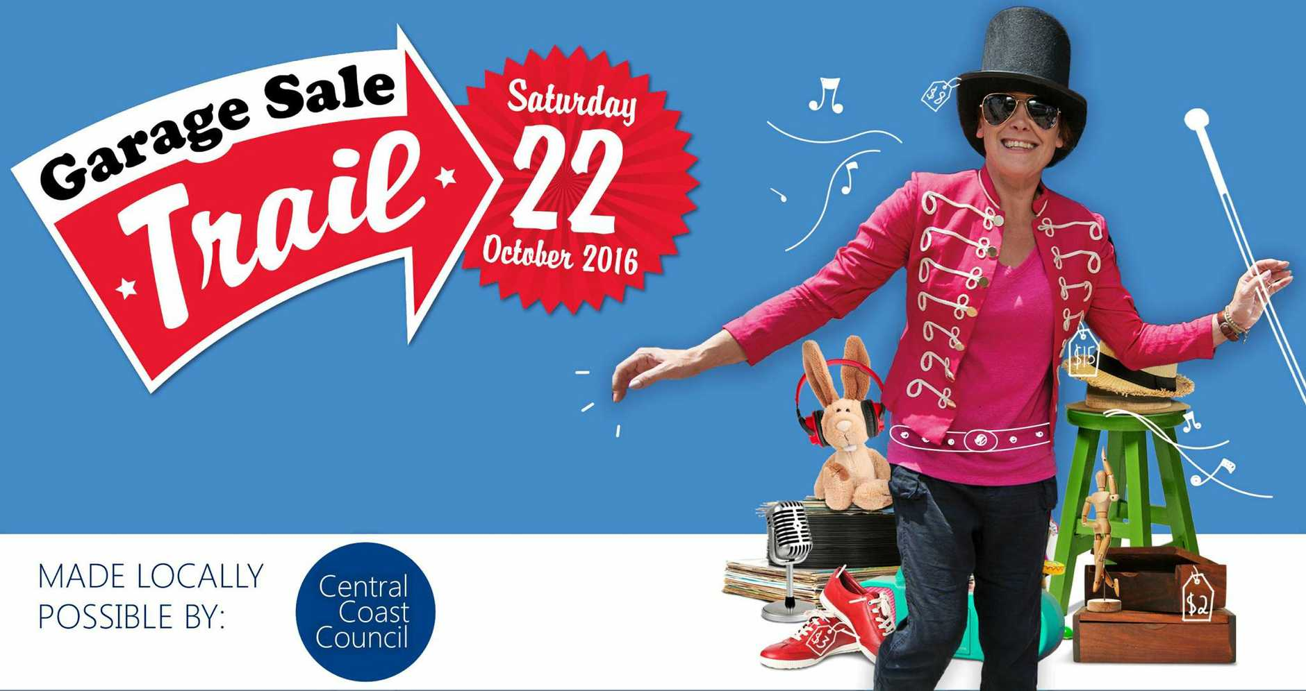 CLEAR OUT THE GARAGE: Australia's biggest garage sale comes to the Central Coast in October.