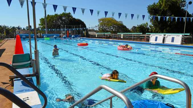 SWIMMING CLUB: A refreshing dip at the Isis pool during the school holidays.