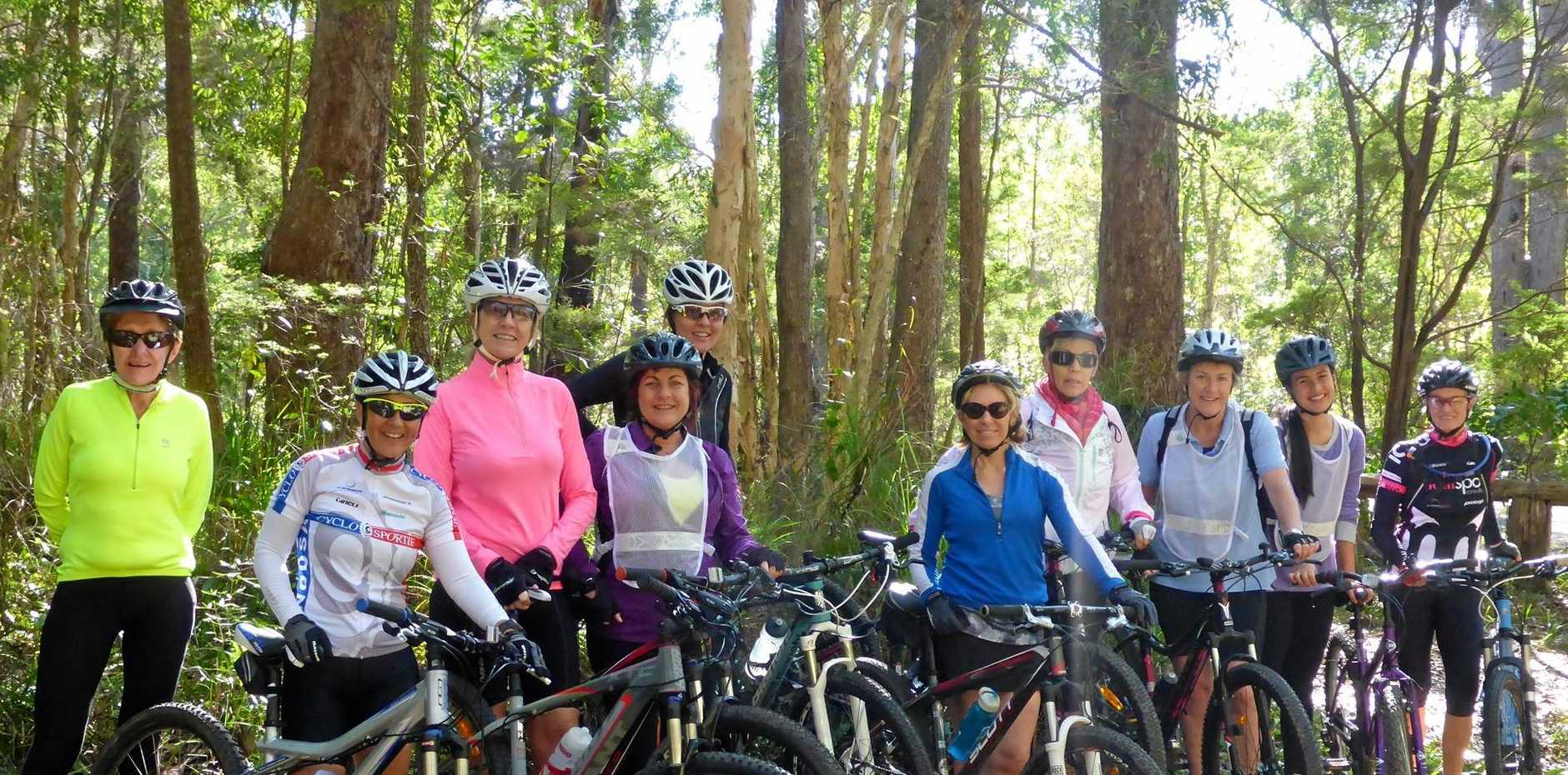 Cycling Australia's She Rides program gets rolling again in Noosa.