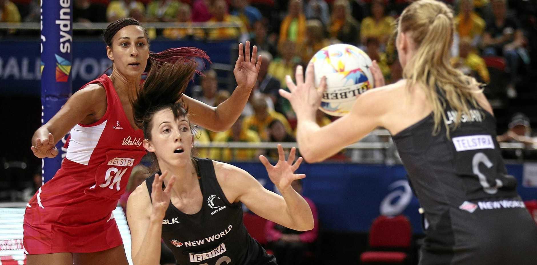 BIG SIGNING: England's Geva Mentor, left, will play for the Sunshine Coast Lightning.