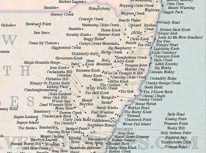 WHAT'S THAT? The Coffs Coast is home to a number of rudely named places.