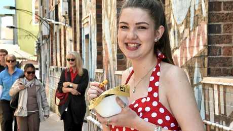 Jamie Matthews, 19 enjoys chips from Hello Harry.
