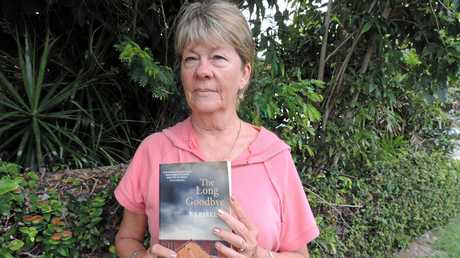 Pam Parker with her novel.